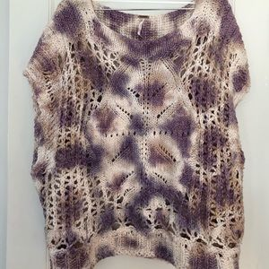 Tie dye loose knit sweater top